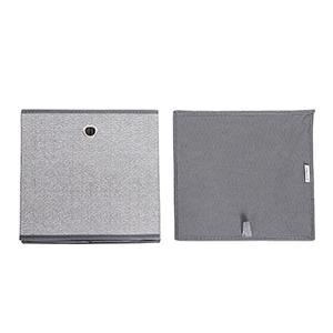 Cestas de Organizaci/ón en Tela no Tejida Similar al Lino Gris RFB002G01 Cajas de Juguetes Plegables 30 x 30 x 30 cm SONGMICS Juego de 6 Cajas de Almacenamiento