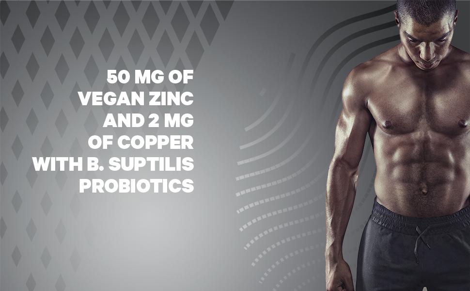 Zinc & Copper Supplement with Probiotics Capsule Codeage Powerfull Antioxydant