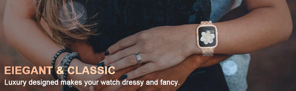apple watch case 44mm bling