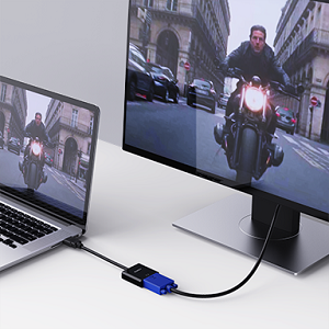 AUKEY Adaptador HDMI a VGA 1080P Convertidor de Vídeo para PC, TV ...