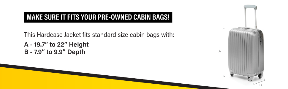 Travel Ready Standard Size Cabin Luggage Information for Hardcase Jacket
