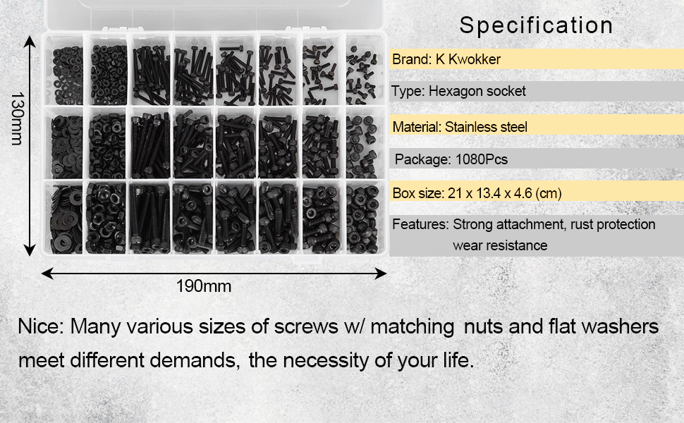 M3 M4 M2 Bolts and Nuts, Washers Stainless Steel Hex Socket Screw