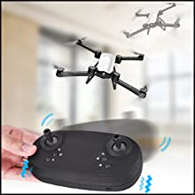 Flashandfocus.com 3f970b4d-e017-4cbf-9861-984e04e16cb5.__CR0,0,300,300_PT0_SX220_V1___ SIMREX X900 Drone Optical Flow Positioning RC Quadcopter with 1080P HD Camera, Altitude Hold Headless Mode, Foldable FPV…