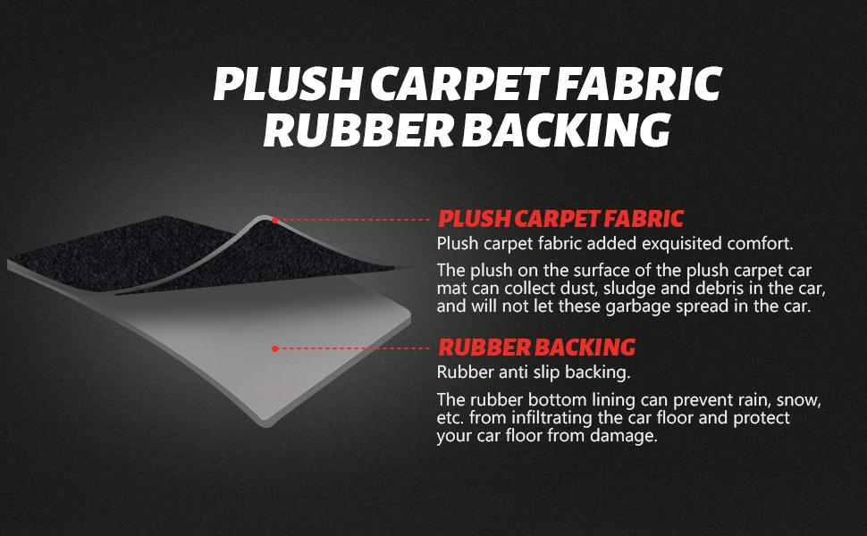 PLUSH CARPET FABRIC RUBBER BACKING
