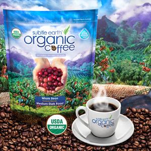 subtle earth organic coffee beans 2 pound bag