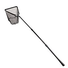 Folding Aluminum Fishing Landing Net Fish Net with Extending Telescoping Pole Handle (45-80 inches)