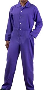 purple jumpsuit unisex men women flightsuit flight jump suit