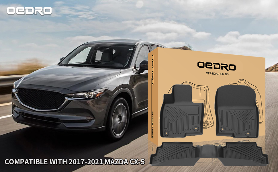 OEDRO Floor Mats Compatible for 2017-2021 Mazda CX-5