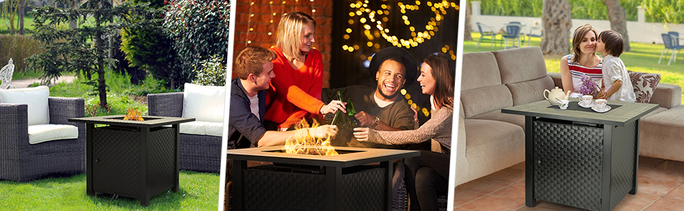 fire table,fire pit,fire pit table,firebowl,tabletop firebowl,camplux