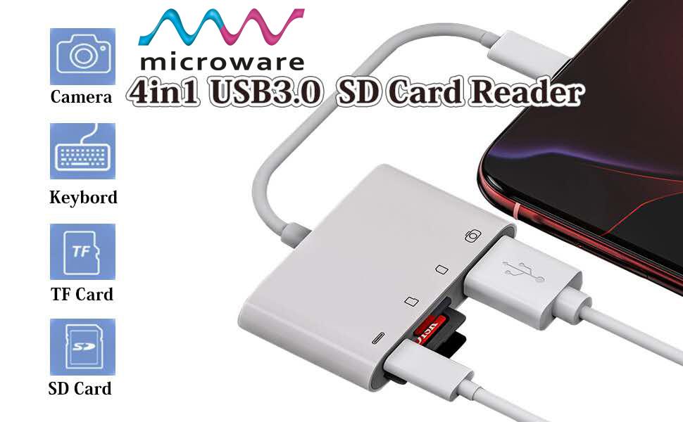 lightning to 4 in1 usb 3.0 sd card reader