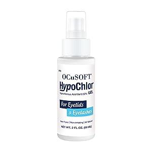 gel, hypochlor, eyelashes, cleaner, eyelids