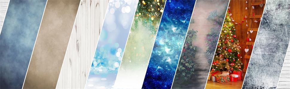 various styles backdrops