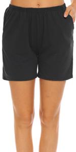 womens cotton pajama shorts