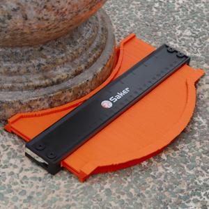 medidor de duplicaciones de contornos de pl/ástico para esquinas y contorneado Kamenda 2 unidades de calibre de contorno m/ás ancho 10 pulgadas de ancho y 5 pulgadas