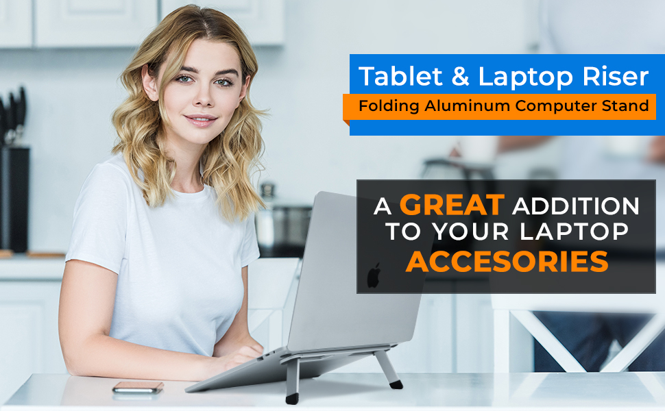 Tablet laptop riser
