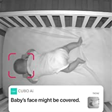 baby safety face cover and roll over detection