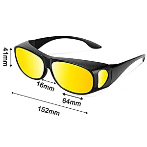 Size Chart for Driving Glasses