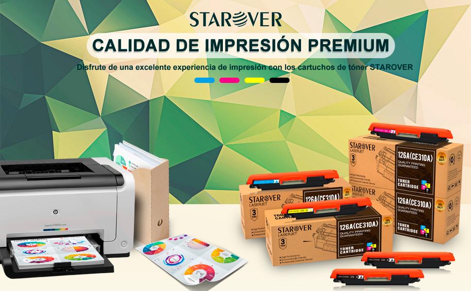 STAROVER 5x Cartuchos de tóner compatibles para HP 126A (CE310A ...