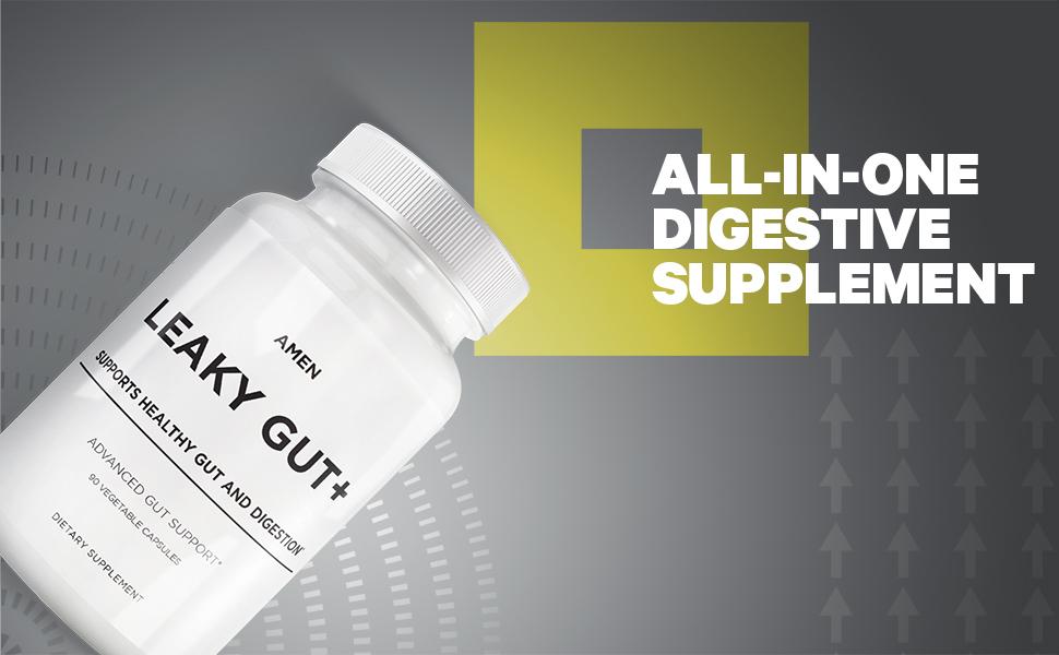 Amen Leaky Gut Gut Health Formula Zinc Probiotics