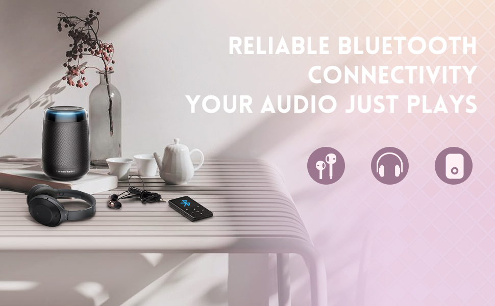Bluetooth function, compatible with Bluetooth headphones, speakers, etc.
