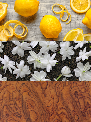 lemon zest italian bergamot grapefruit rose starfruit vanilla woods daytime sweet pretty precious