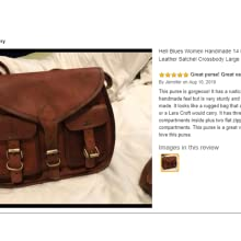 hell blues leather bags