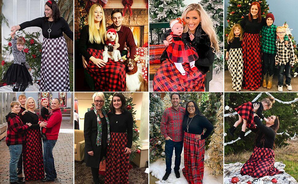 MEROKEETY Womens Plaid Long Sleeve Empire Waist Full Length Maxi Dress with Pockets