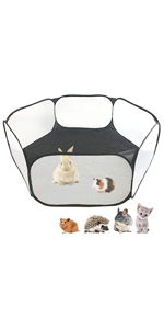 playpen with net sides (black)