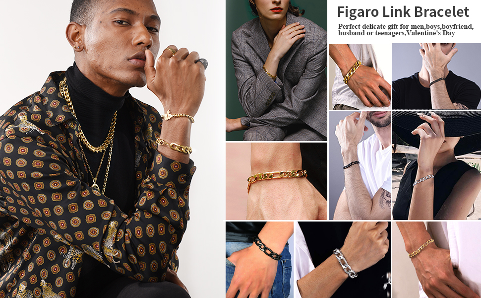 men chain fiagro gold stainless steel