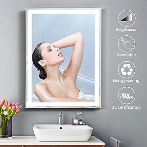 anti fog bathroom mirror led bath mirror