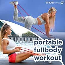 red exercise light band workout trx suspension bodybax ironcore long resistance band loop red