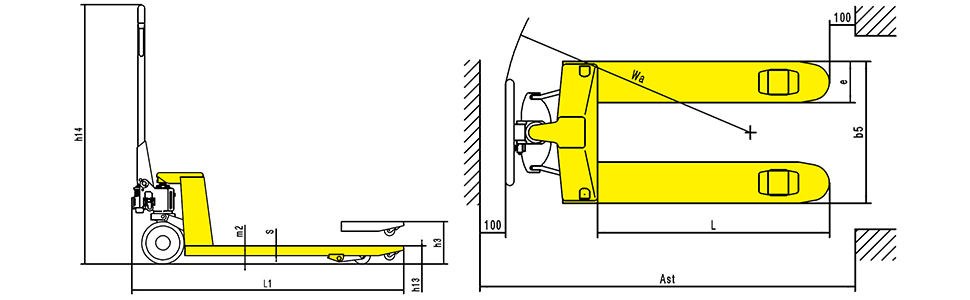 Xilin hand pallet truck manual pallet lift jack material handling