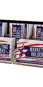 Marketing Holders 5 Pocket Business Card Holder 3 Vertical amp; 2 Horizontal