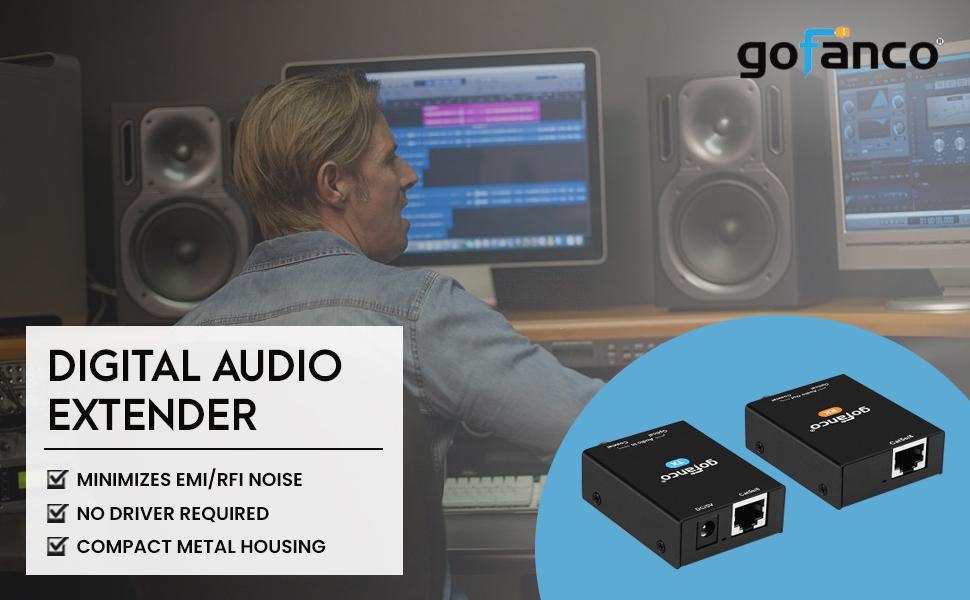 digital audio extender over ethernet from gofanco