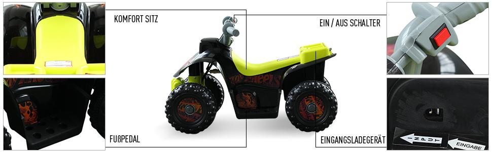 Kinderauto Kinderwagen Elektroauto Kinderfahrzeug Kindermotorrad Quad Elektroquad Kinderquad