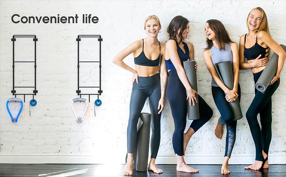 yoga mat wall holder