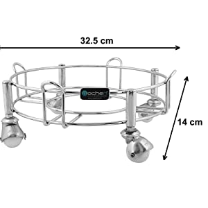 Stainless Steel Gas Cylinder Trolley/Stand with Wheels