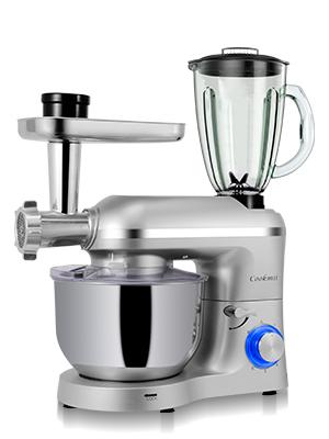 Cookmii 1800W Robot de Cocina Multifunción 3-En-1, Batidora Amasadora Reposteria, Picadora, Batidora de Vaso,con Un Tazón De Acero Inoxidable, ...