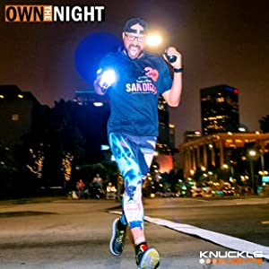 Own the night with Knuckle Lights running lights for runner and walkers