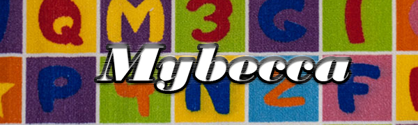 "ABC Fun Kids Rugs Playtime Area Rug, 5"" x 7"" Non-Slip Backing area rug classroom"