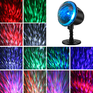 Water wave light projector