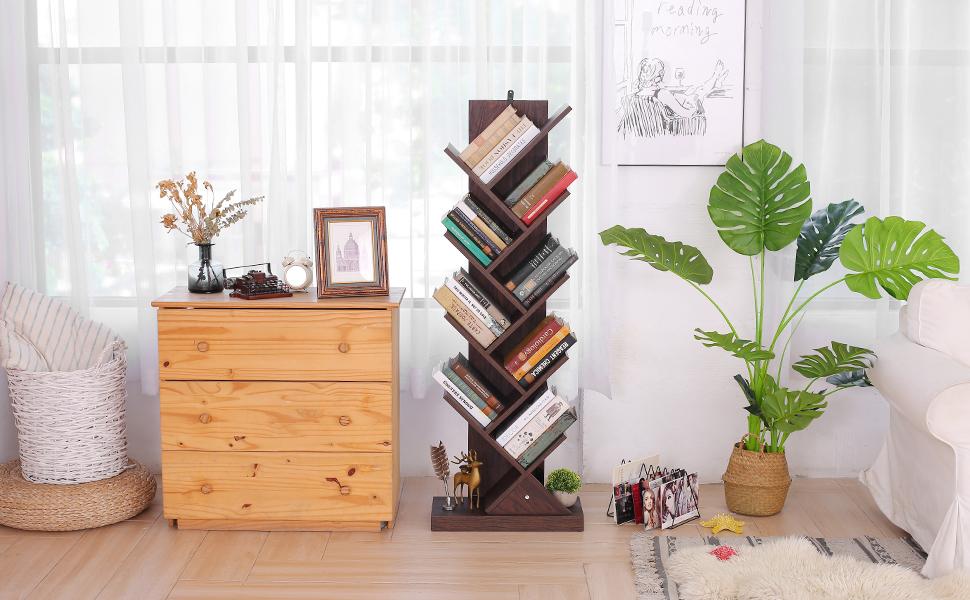 9-Shelf Tree Bookcase