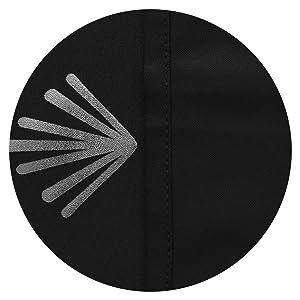 8 Grommet Black