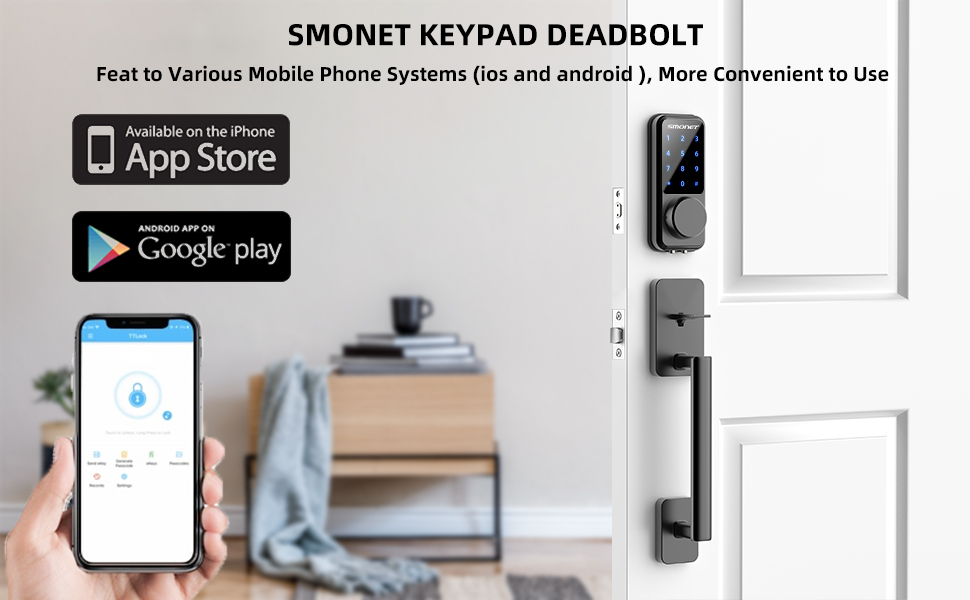 Touchscreen Keypad Keyless Smart Lock