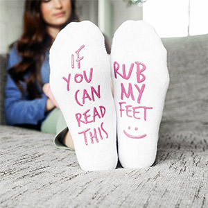 If You Can Read this Rub My Feet labor and delivery socks