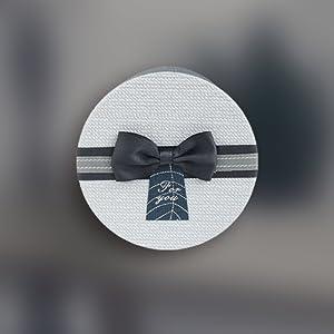 Scatola Di Colore Burgandy Testurizzata Con Coperchio Interno Stampato e Nastro Strisce Multicolore 13 x 13 x 9,5 cm Emartbuy Set di 4 Lusso Rigido Confezione Regalo a Forma di Quadrata