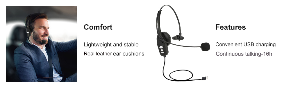 Trucker Bluetooth Headset