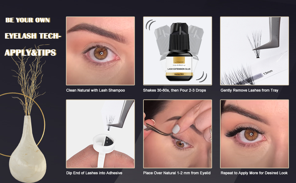 easy to apply the self lash kit, everyone can be your lash tech