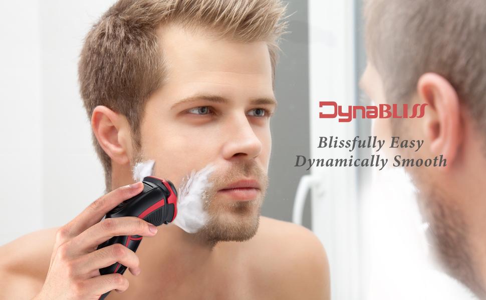 DynaBliss Afeitadora Eléctrica para Hombre Rotativa, Húmedo y Seco ...