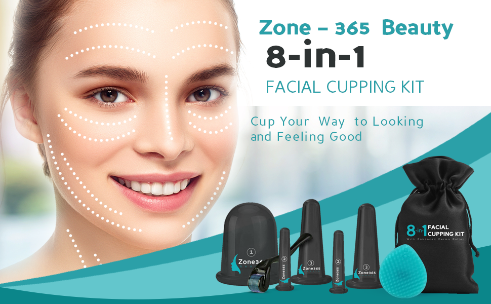 Cup Your Way to Looking and Feeling Good with Zone – 365 Beauty 8-in-1 Facial Cupping Kit